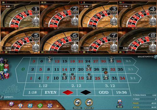 Play Multiwheel Roulette online